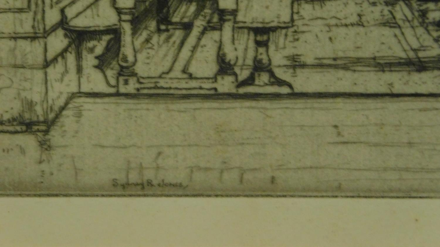 A 19th century signed lithograph of a church interior, another of a Venice canal and a 19th - Image 6 of 9