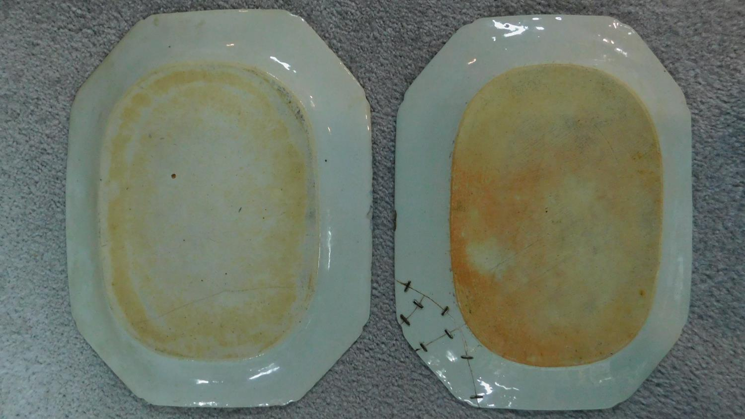 Various 19th century and later serving plates. 51x41cm (largest) - Image 7 of 11