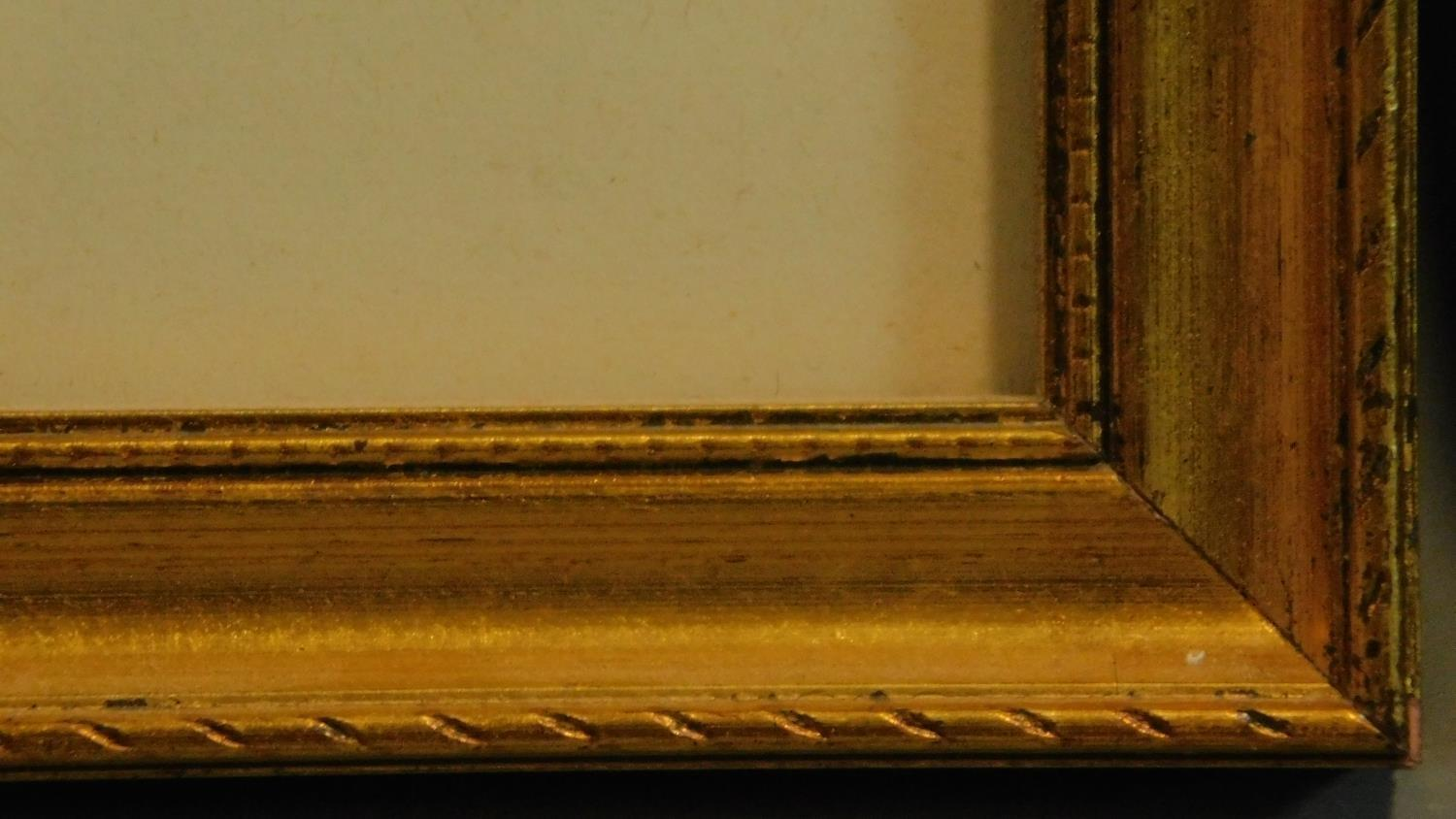 A framed and glazed watercolour, cathedral by a river, and two framed oil paintings, still life - Image 8 of 8