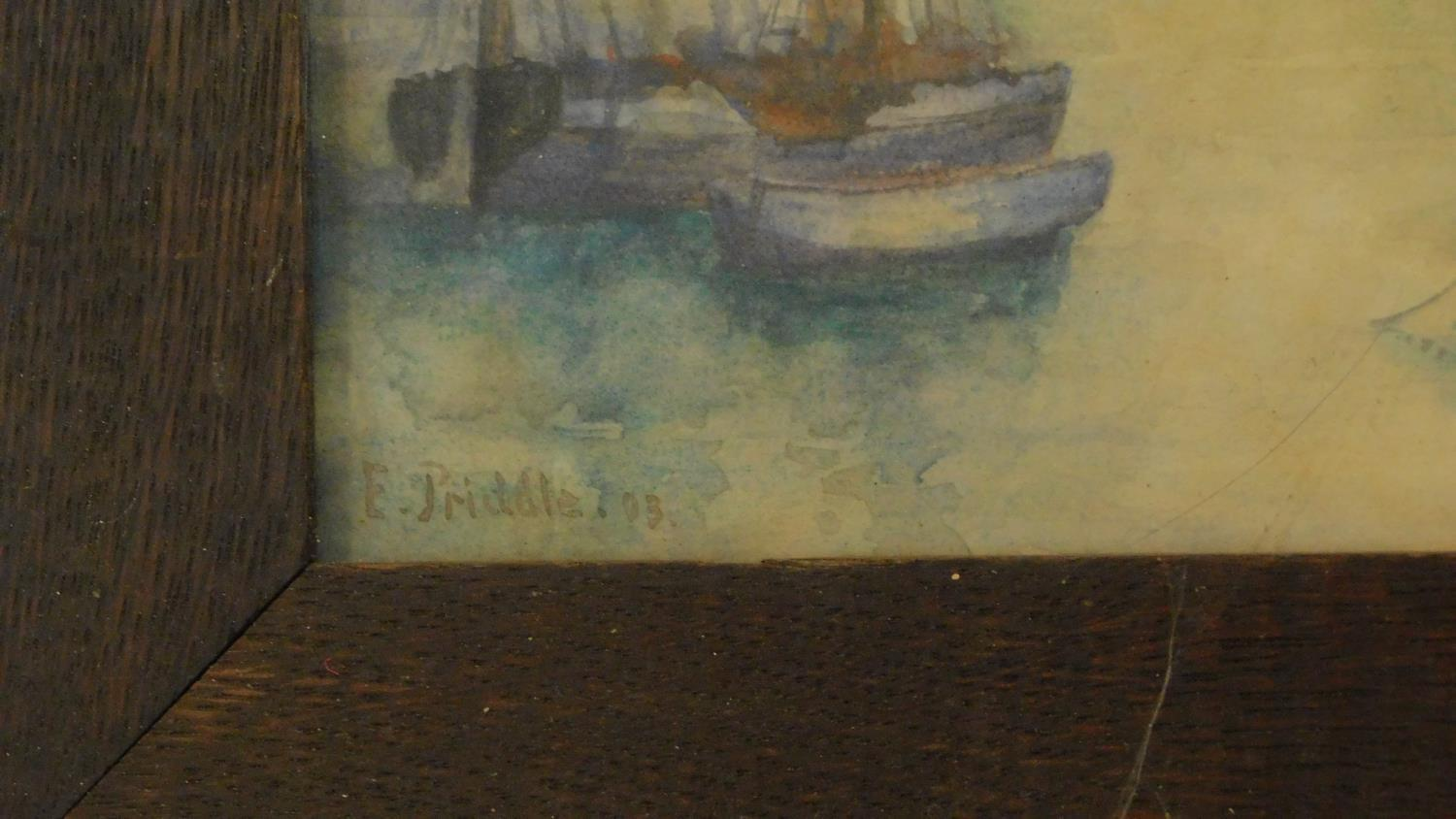 A framed and glazed watercolour, ships at sea and another similar. 49x39 - Image 5 of 6