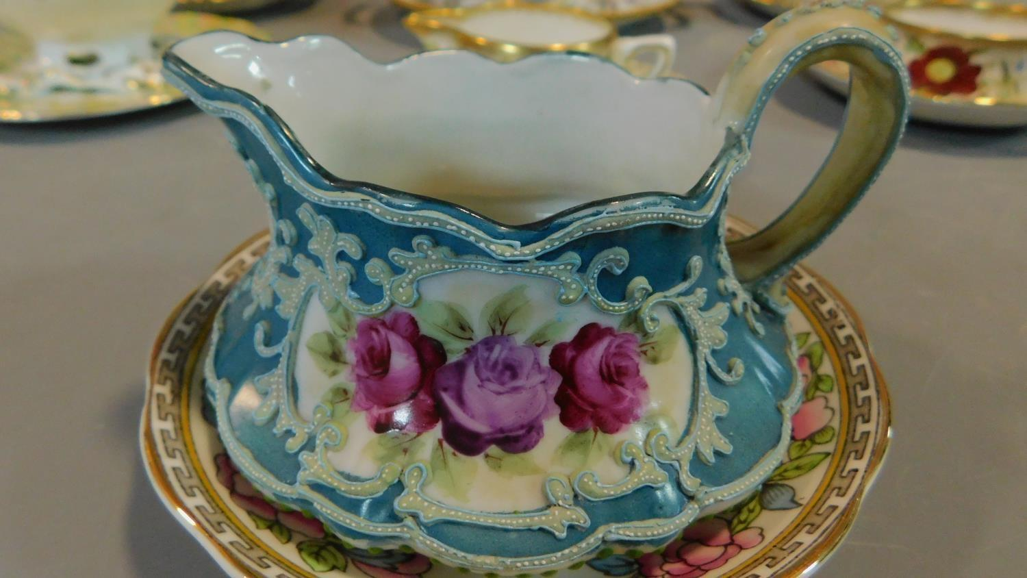 A miscellaneous collection of Victorian and later porcelain, vase, cups, saucers etc. - Image 2 of 14