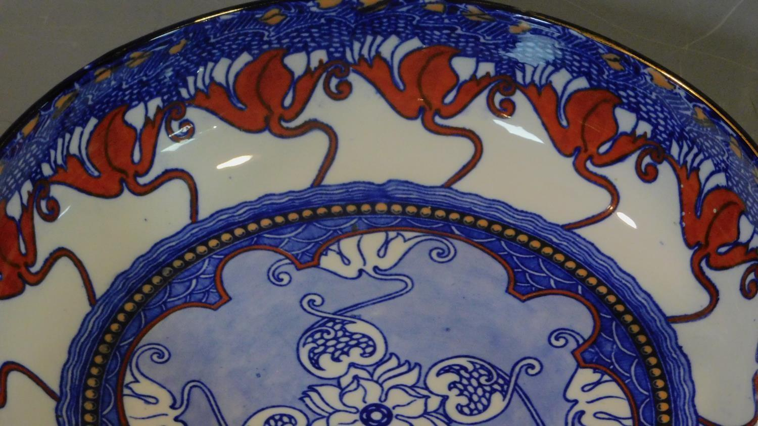 A late 19th century Art Nouveau jug and bowl and a collection of Victorian and later plates. - Image 3 of 8