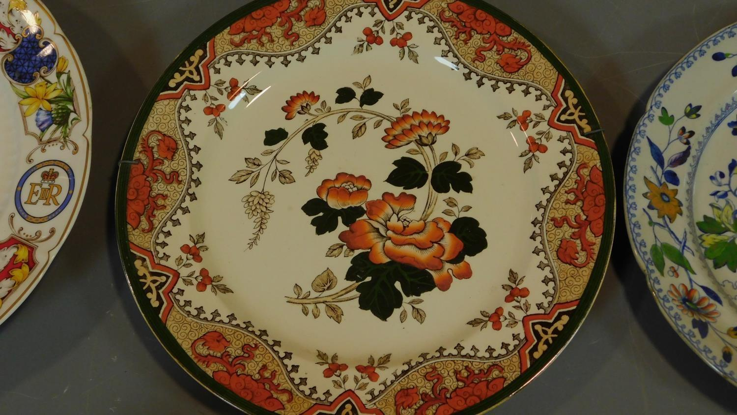 A 19th century Staffordshire ironstone tureen and cover (associated ladle) and various other - Image 2 of 18