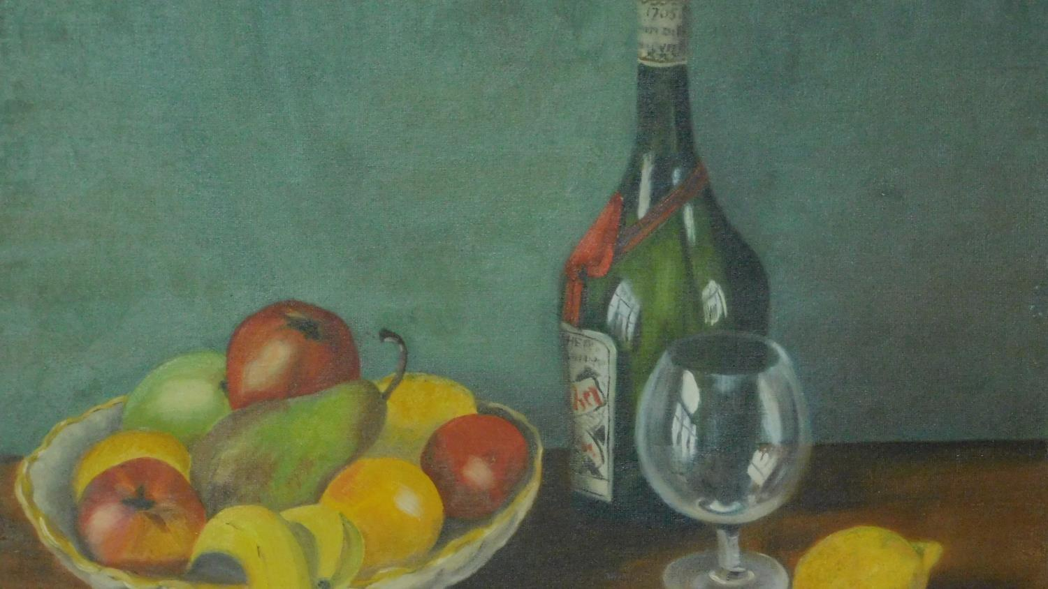 A collection of three oils on board, still life. 57x46cm - Image 4 of 5