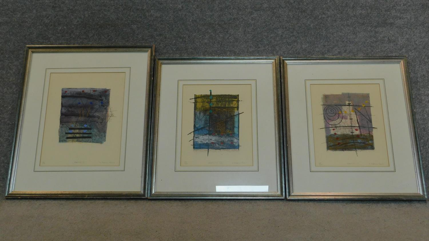 A set of three limited edition lithographs signed by the artist, graffito ll, lll and lV. 55x47cm
