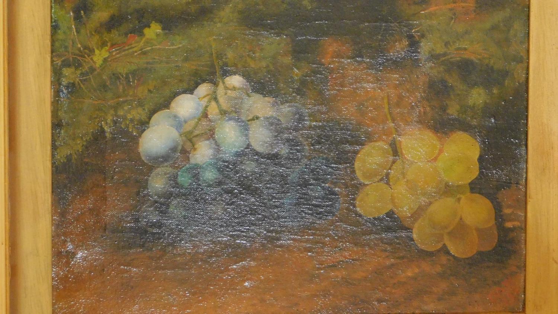 A gilt framed late 19th century oil on canvas, still life. 39x47cm - Image 2 of 6