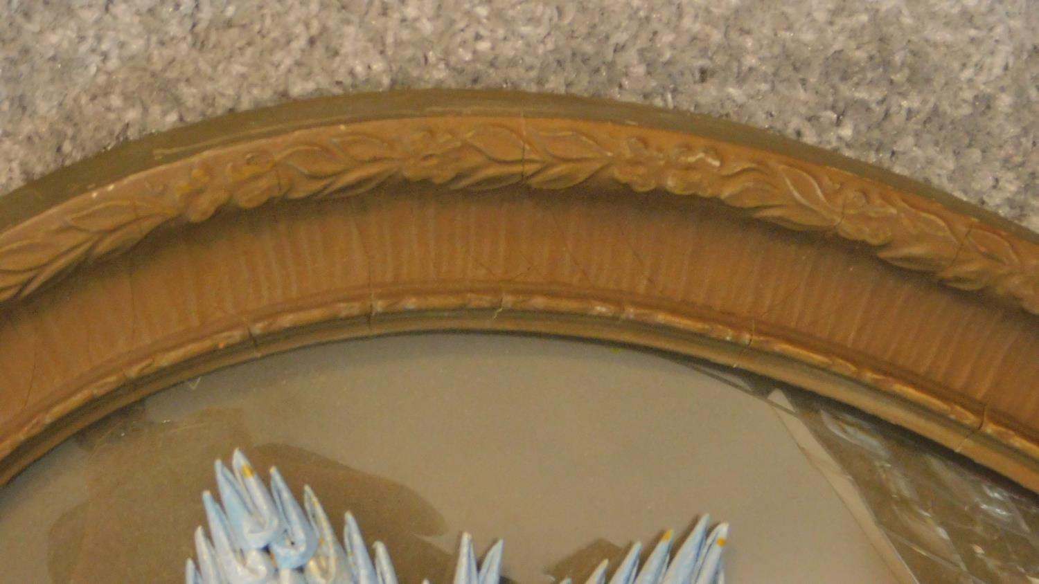 Two late Victorian oval framed and glazed prints (one with a convex plate), each with contemporary - Image 6 of 8