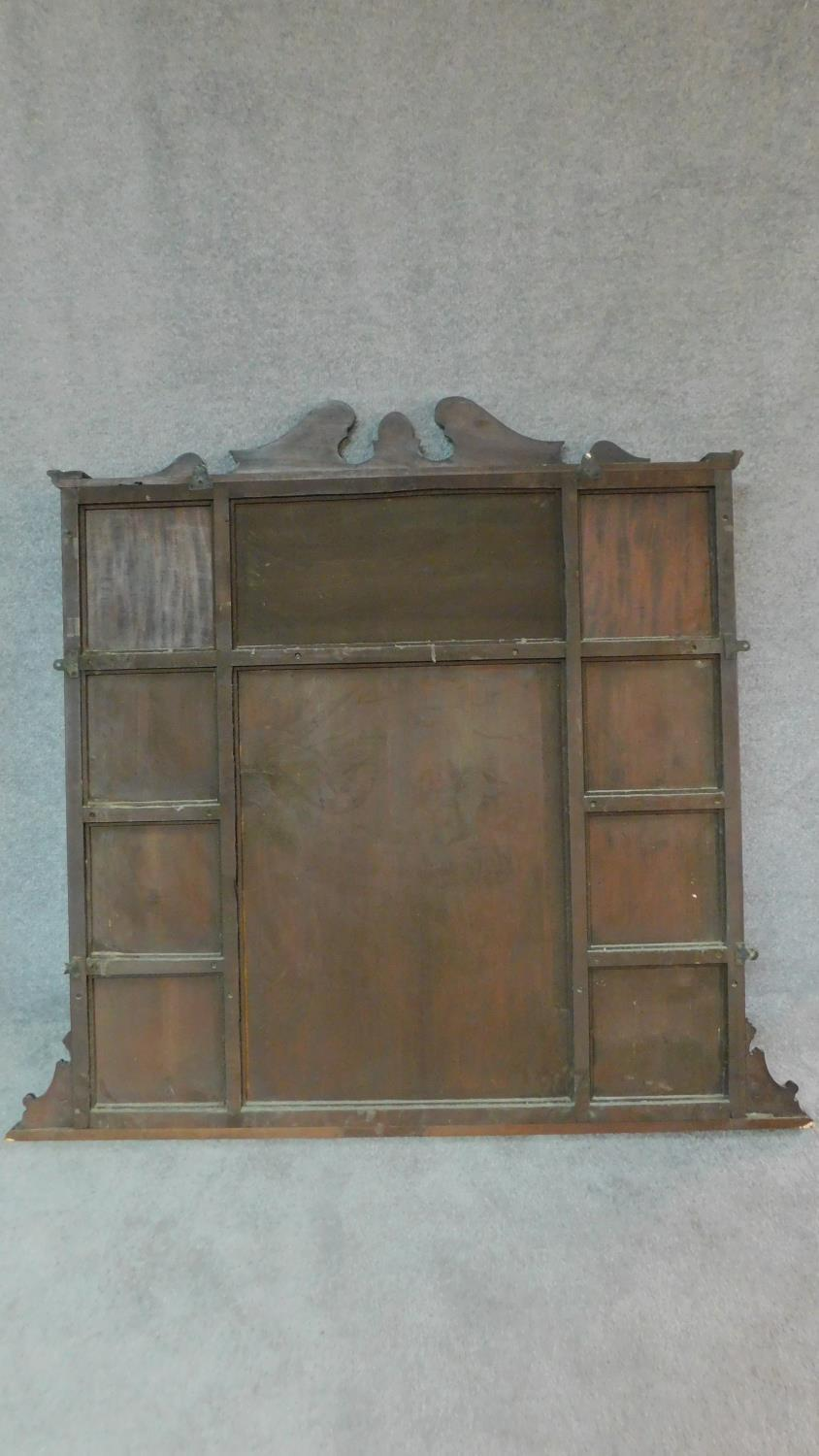 A Victorian carved walnut overmantel mirror with original bevelled plates. H.142 W.149 D.20cm - Image 7 of 7