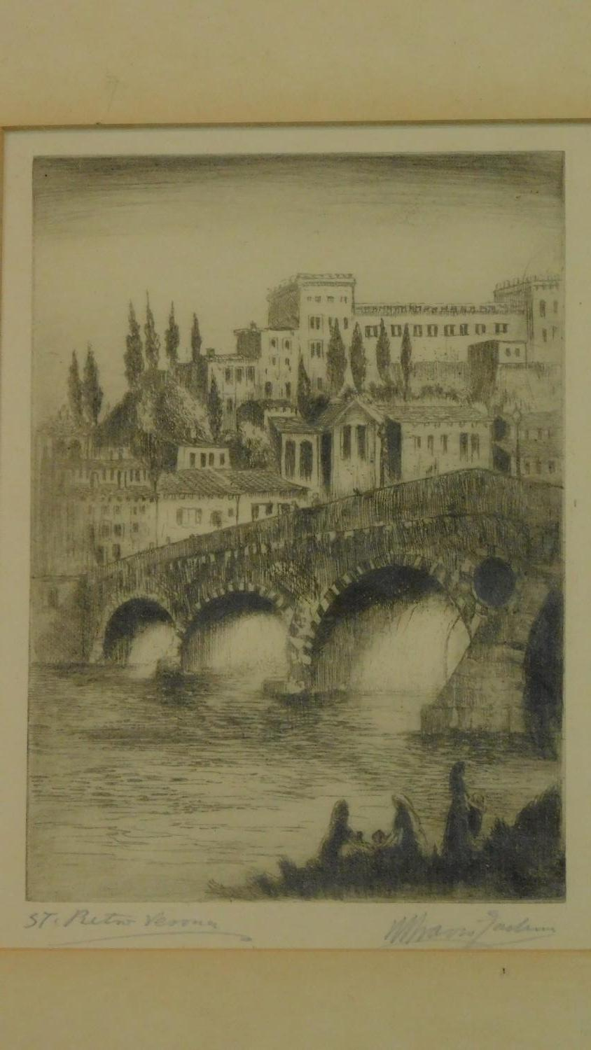 Two framed and glazed etchings, each signed by the artist. 40x30cm - Image 5 of 7