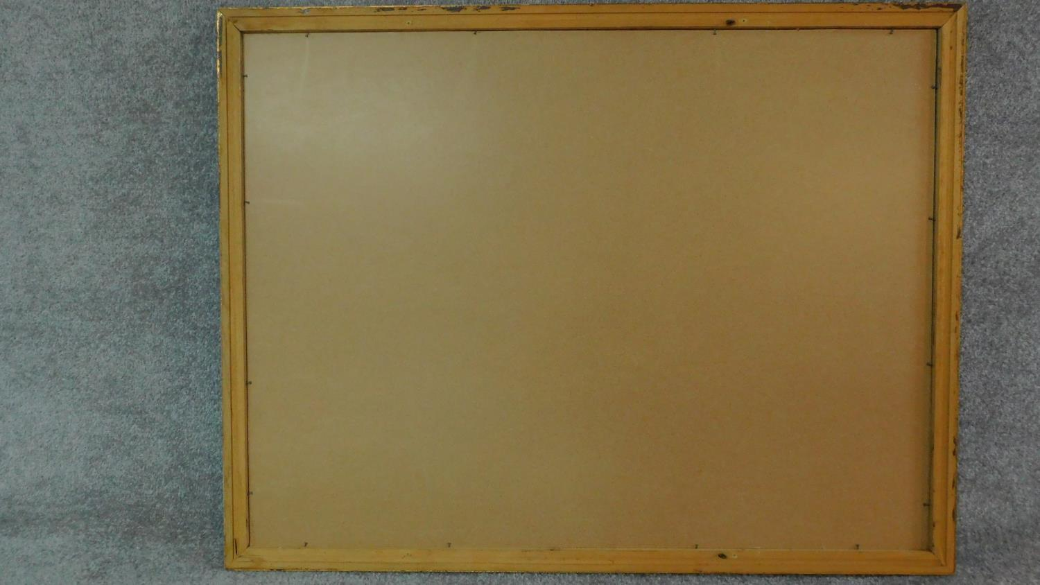 A rectangular gilt framed mirror with bevelled plate. 84x109 - Image 4 of 4