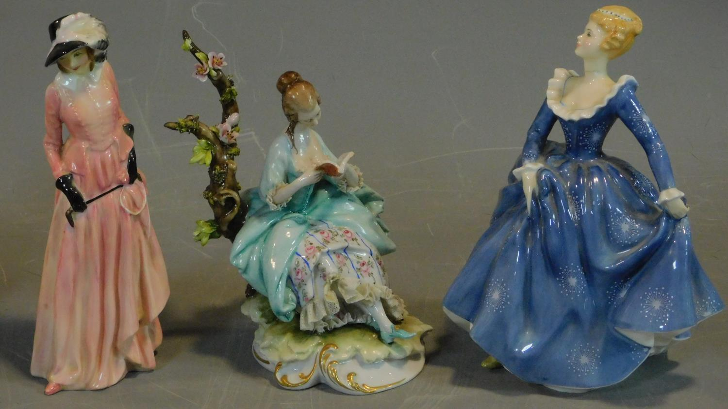 A collection of six Royal Doulton and other figures. H.20 (tallest) - Image 2 of 8