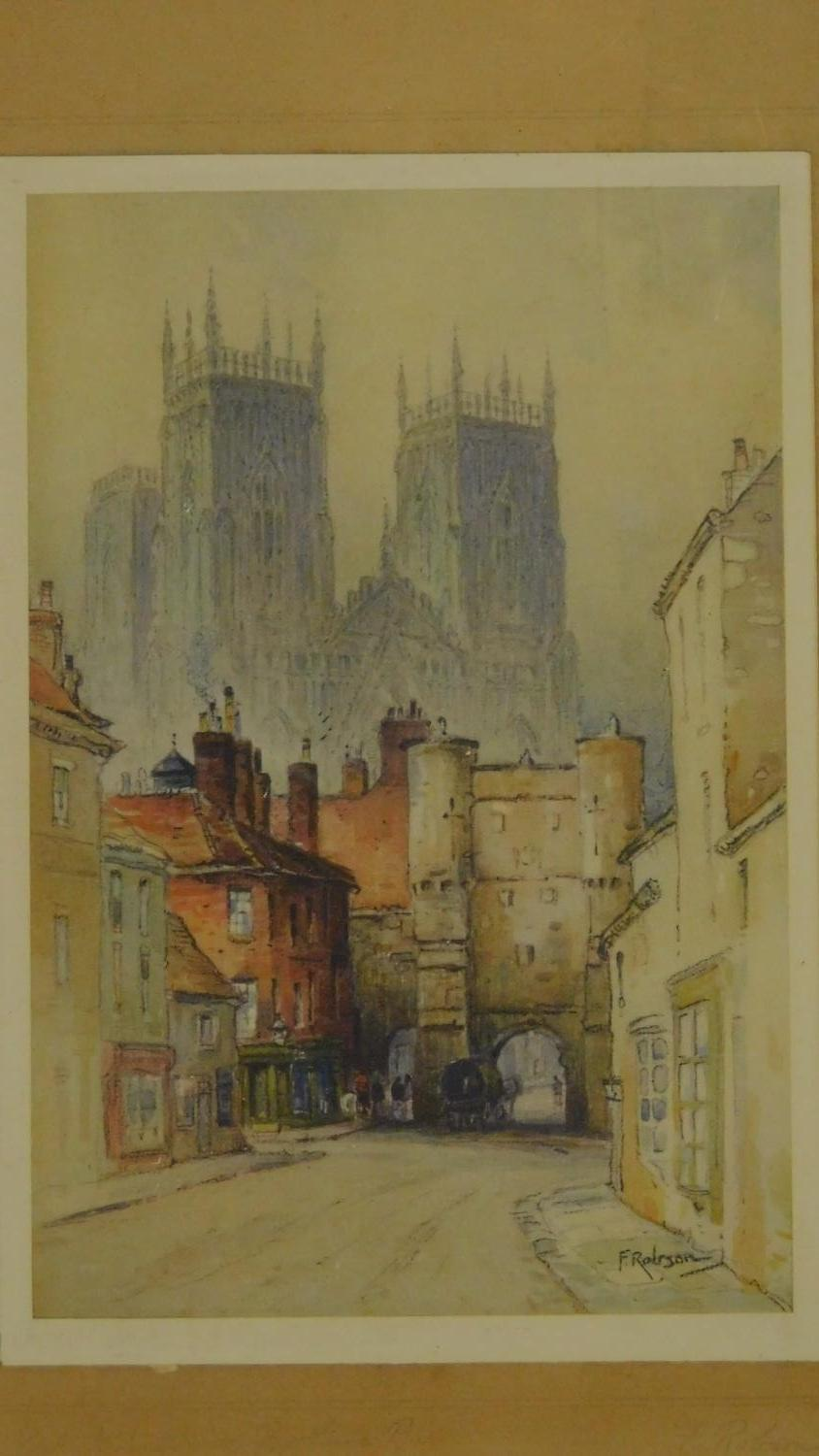A pair of signed 19th century framed and glazed etchings, a set of three prints and an oil on board, - Image 8 of 10