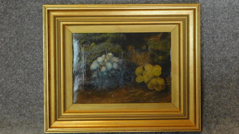 A gilt framed late 19th century oil on canvas, still life. 39x47cm
