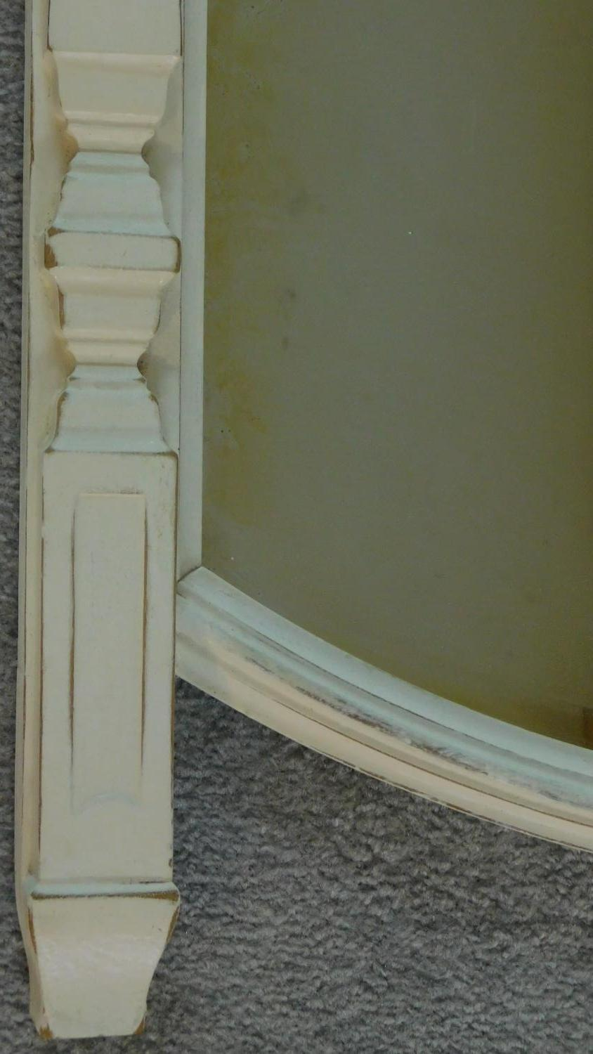 A white painted overmantel mirror. 91x72cm - Image 2 of 5