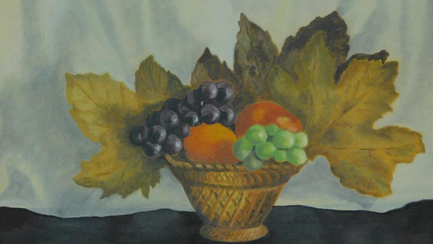 A collection of three oils on board, still life. 57x46cm - Image 2 of 5