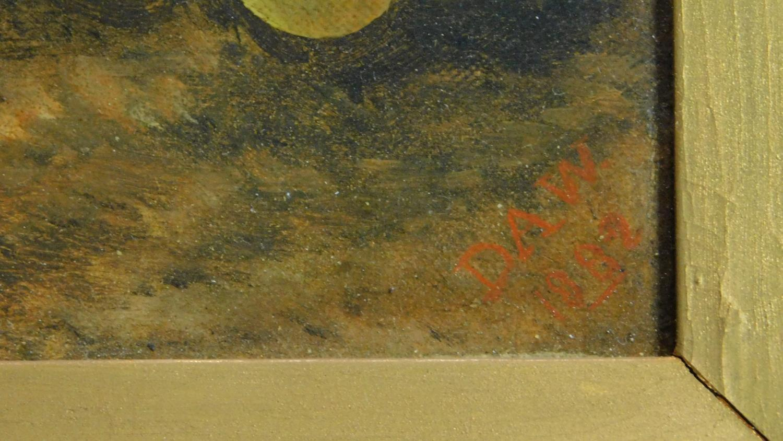 A gilt framed late 19th century oil on canvas, still life. 39x47cm - Image 3 of 6