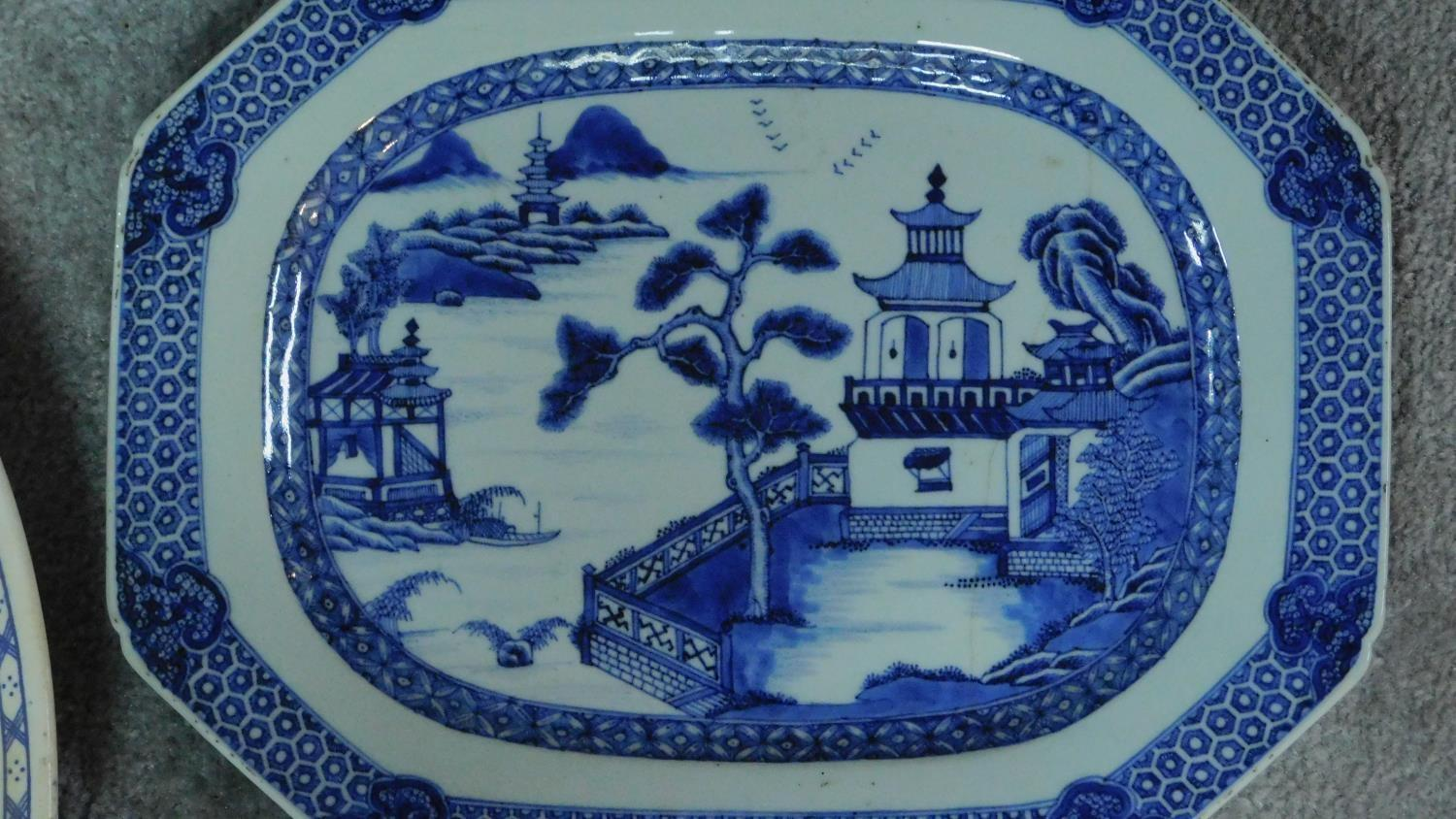 Various 19th century and later serving plates. 51x41cm (largest) - Image 2 of 11