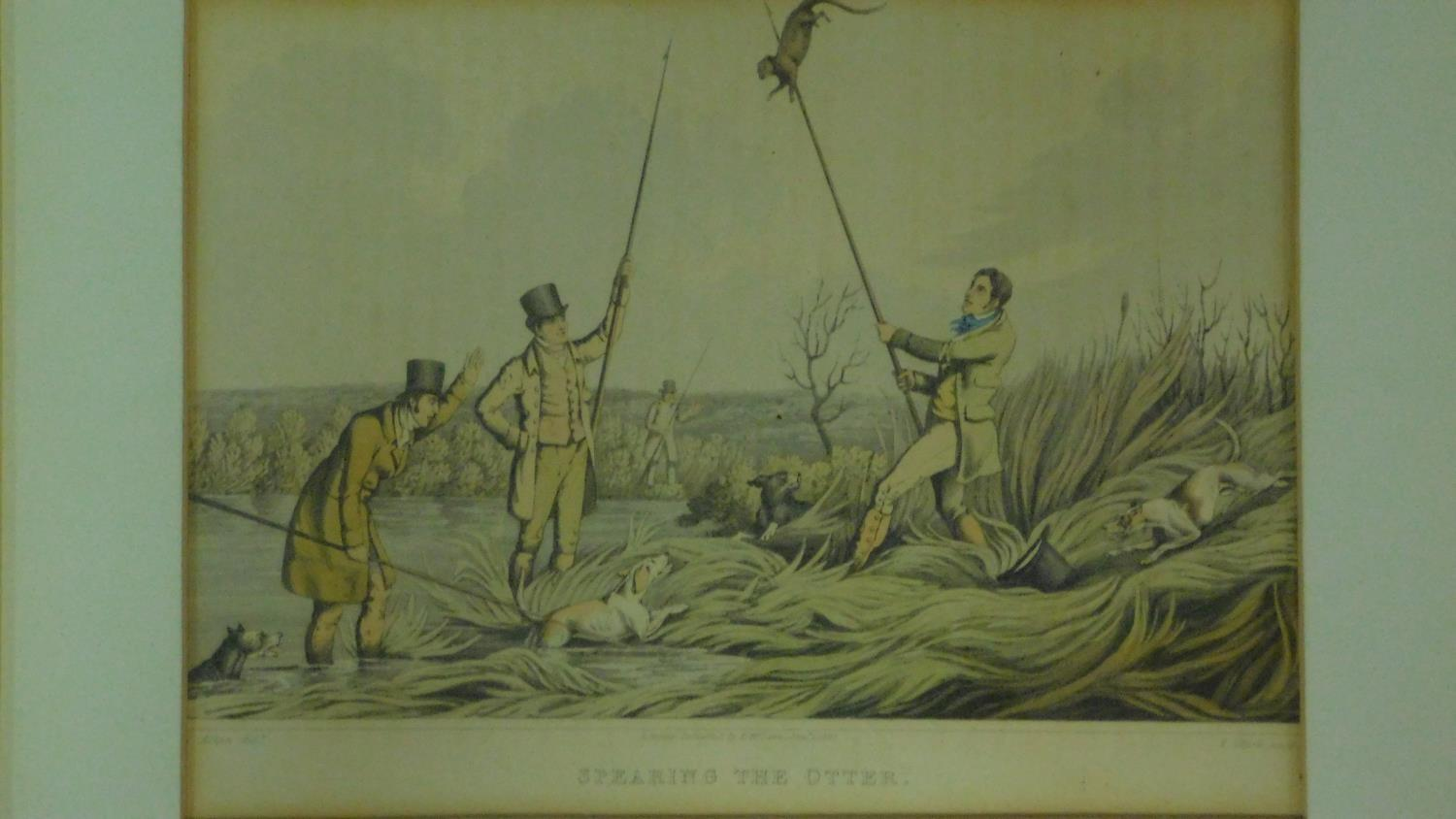 A set of six 19th century oak framed and glazed sporting prints after Henry Alken. 44x36cm - Image 3 of 9
