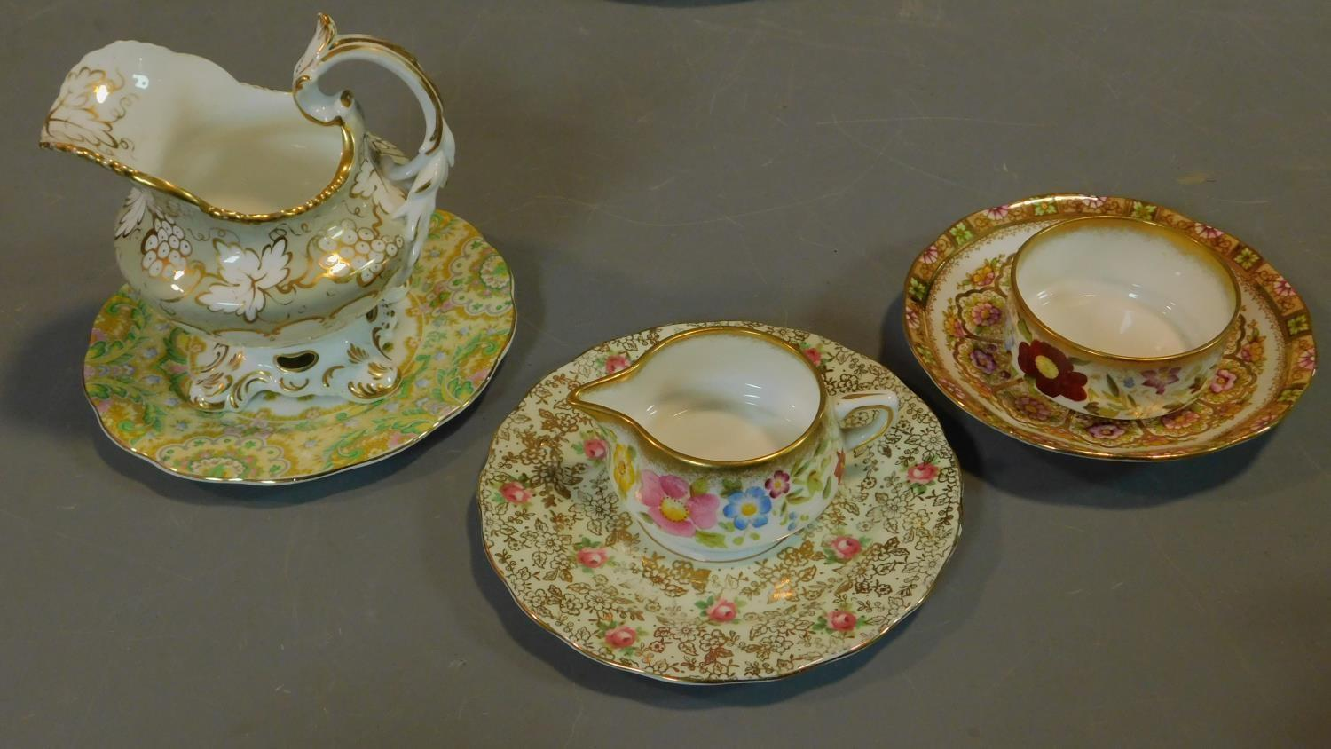 A miscellaneous collection of Victorian and later porcelain, vase, cups, saucers etc. - Image 11 of 14