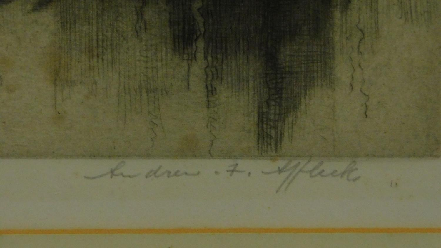 A 19th century signed lithograph of a church interior, another of a Venice canal and a 19th - Image 3 of 9