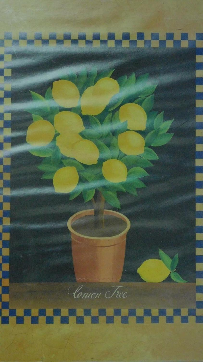Two framed and glazed prints, sunflower and lemons. 82x67 (largest) - Image 2 of 7