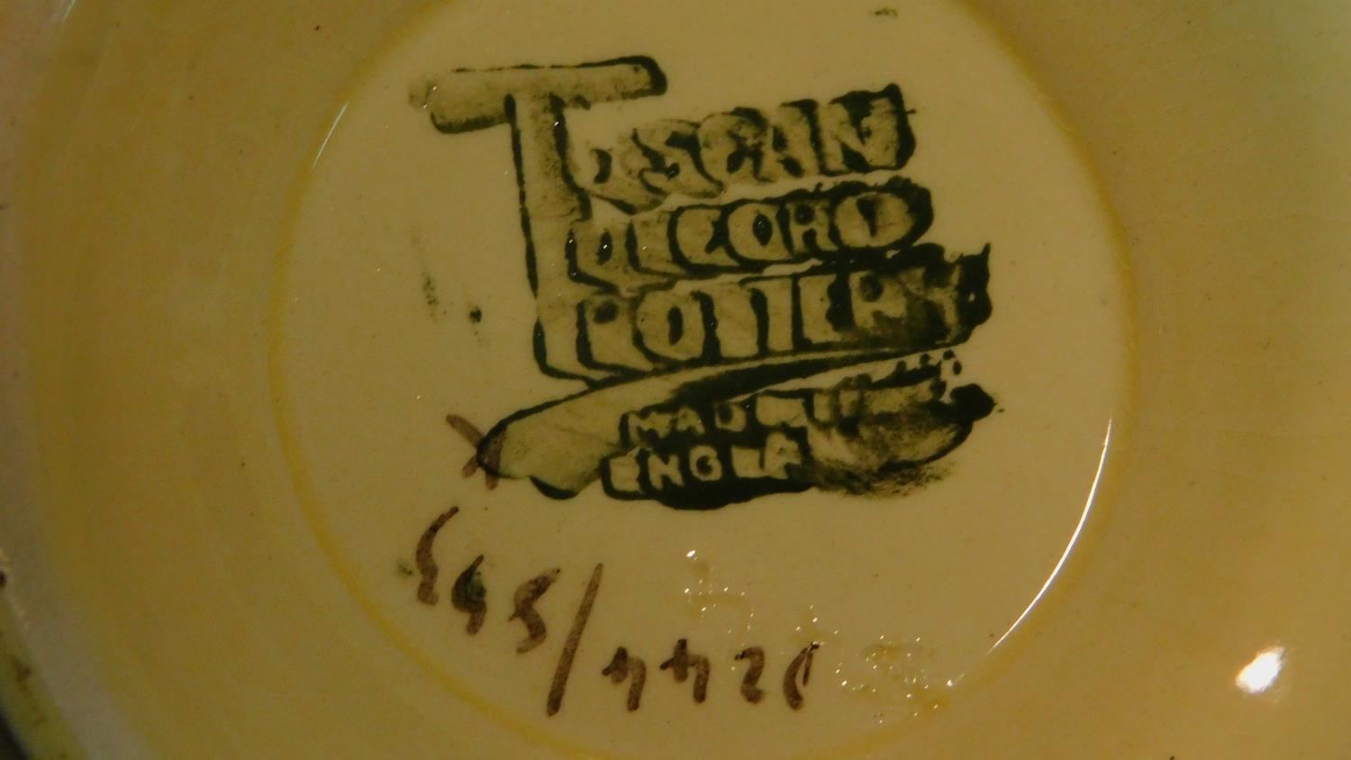 A collection of Art Deco Tuscan Decoro pottery baskets and other ceramic items. - Image 7 of 8