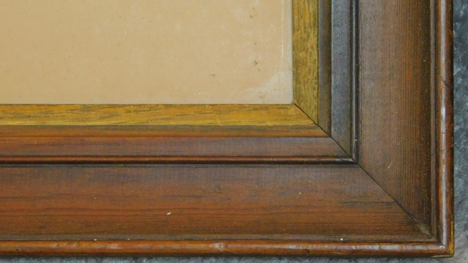A 19th century framed and glazed watercolour country landscape and a framed pen and ink drawing. - Image 3 of 7