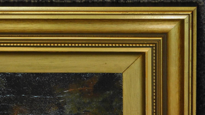 A gilt framed late 19th century oil on canvas, still life. 39x47cm - Image 4 of 6