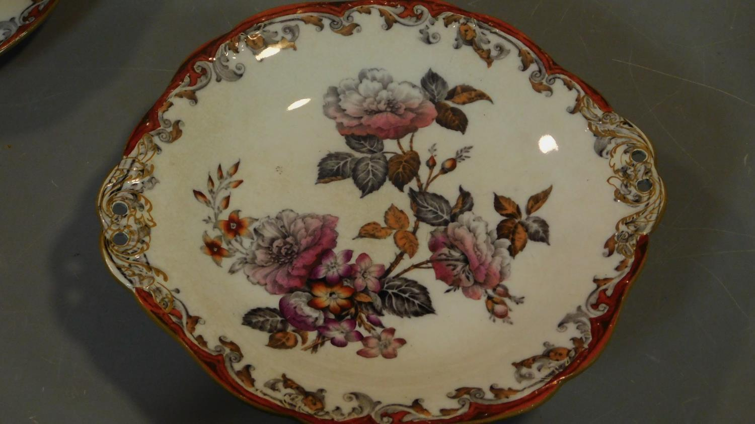 A late 19th century Art Nouveau jug and bowl and a collection of Victorian and later plates. - Image 2 of 8