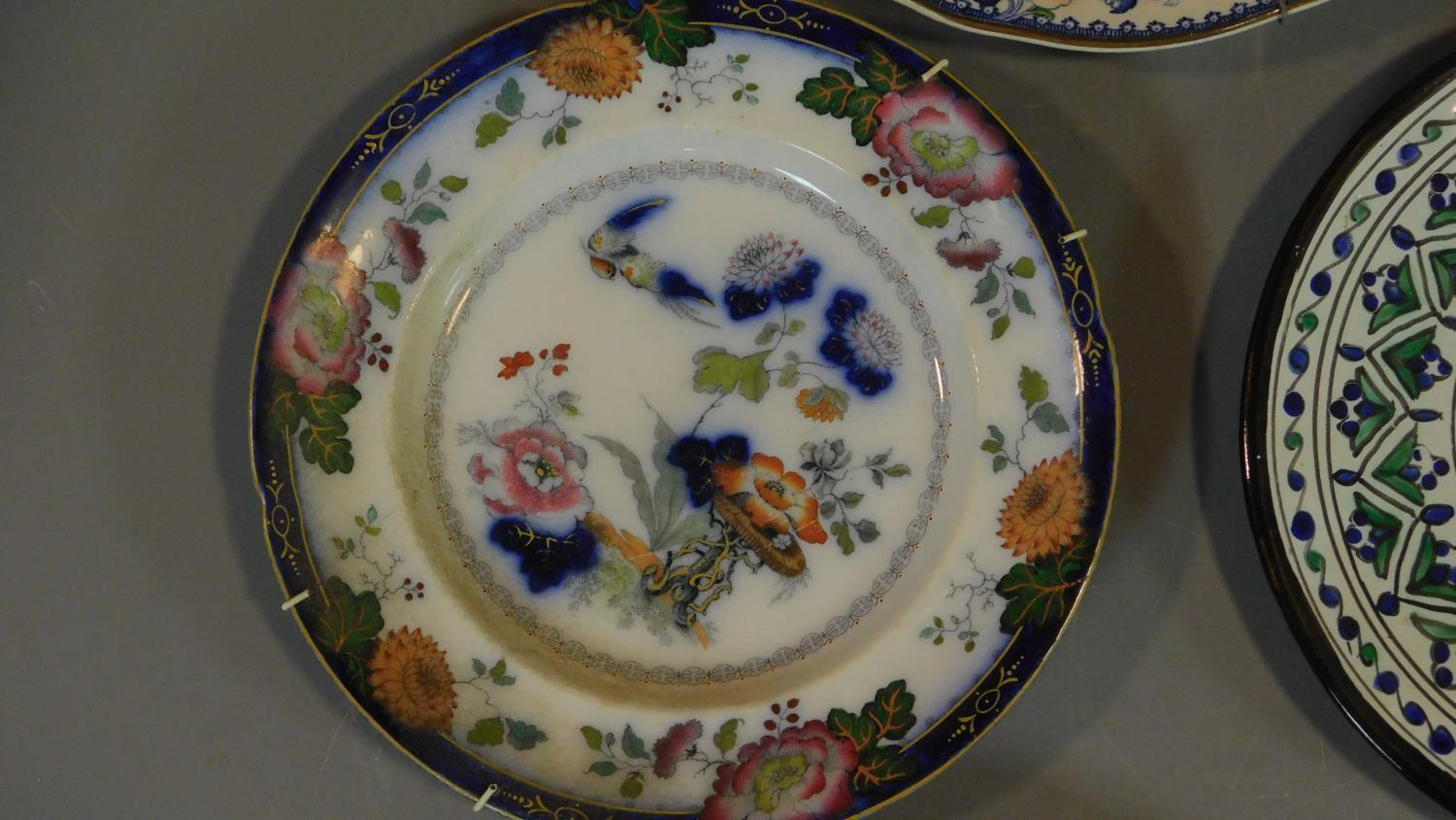 A 19th century Staffordshire ironstone tureen and cover (associated ladle) and various other - Image 6 of 18