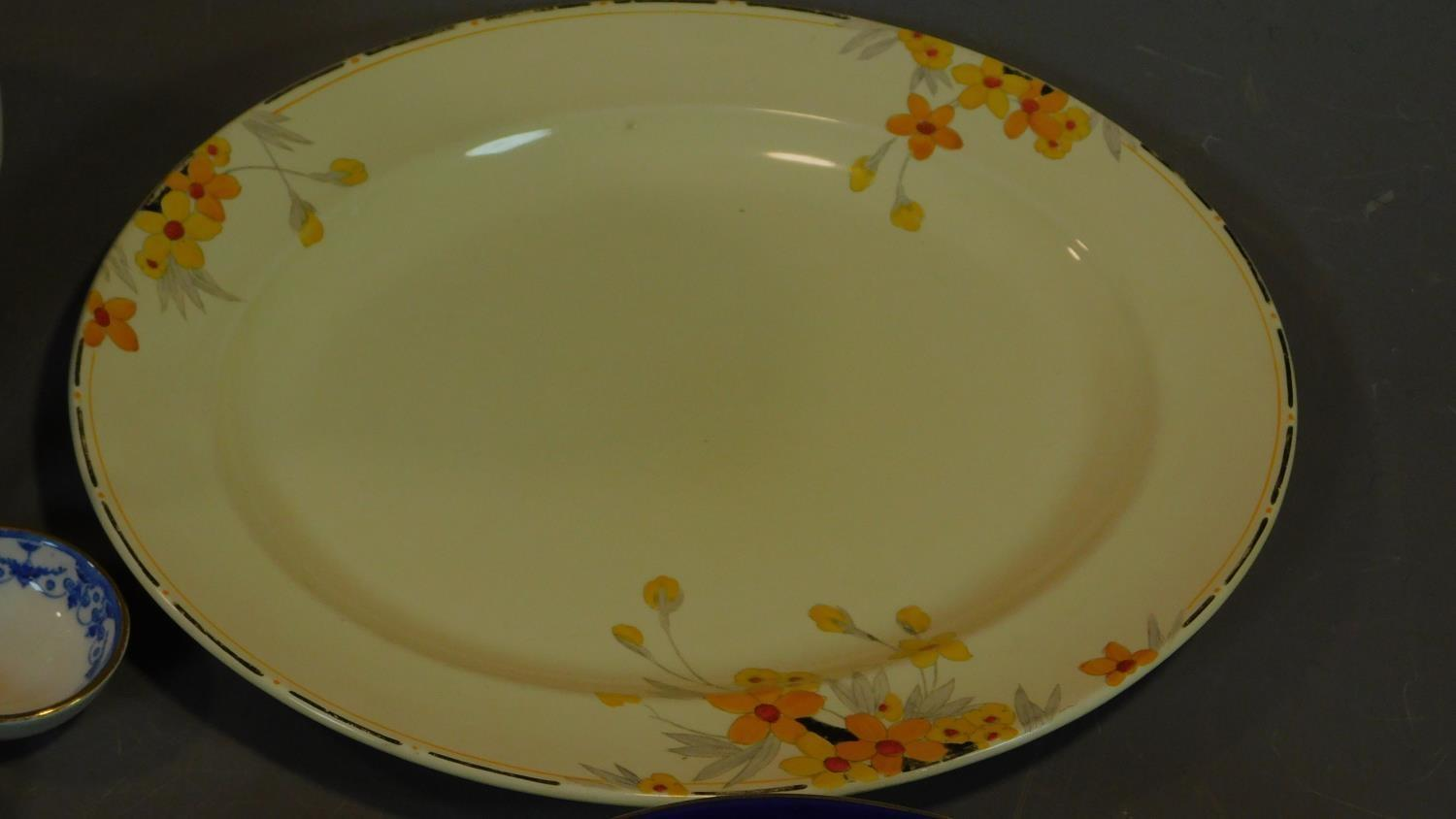 A late 19th century Art Nouveau jug and bowl and a collection of Victorian and later plates. - Image 4 of 8