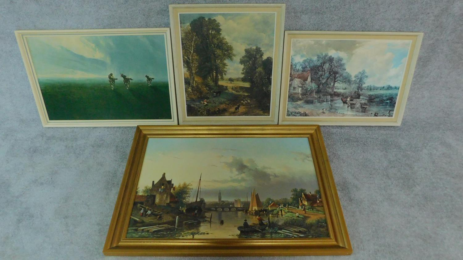 A collection of four framed photographic copies of old masters.106x74cm