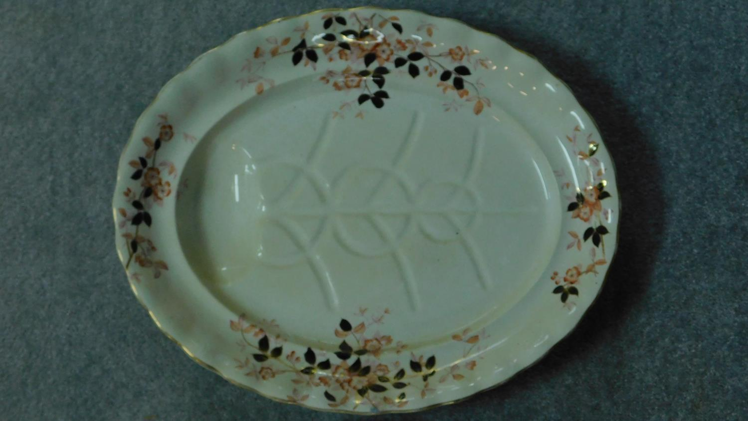 Various 19th century and later serving plates. 51x41cm (largest) - Image 6 of 11