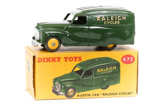 DINKY No 472 AUSTIN VAN RALEIGH TRANSFERS//DECALS