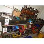LOT - STEEL TABLES W/ CONTENTS (MILLING MACHINE TOOLING)