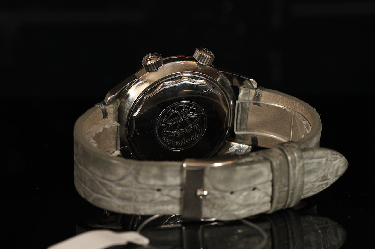 GENTLEMENS ENICAR AUTOMATIC SHERPA SUPER DIVE WRISTWATCH, circular black dial with patina and - Image 2 of 2