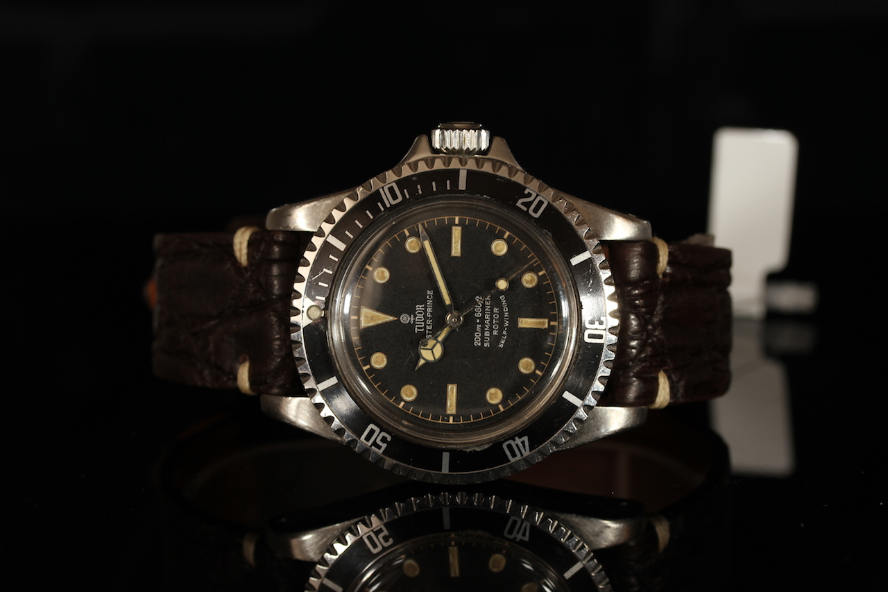 GENTLEMENS TUDOR OYSTER PRINCE SUBMARINER 'POINTED CROWN GUARDS' WRISTWATCH REF. 7928, circular