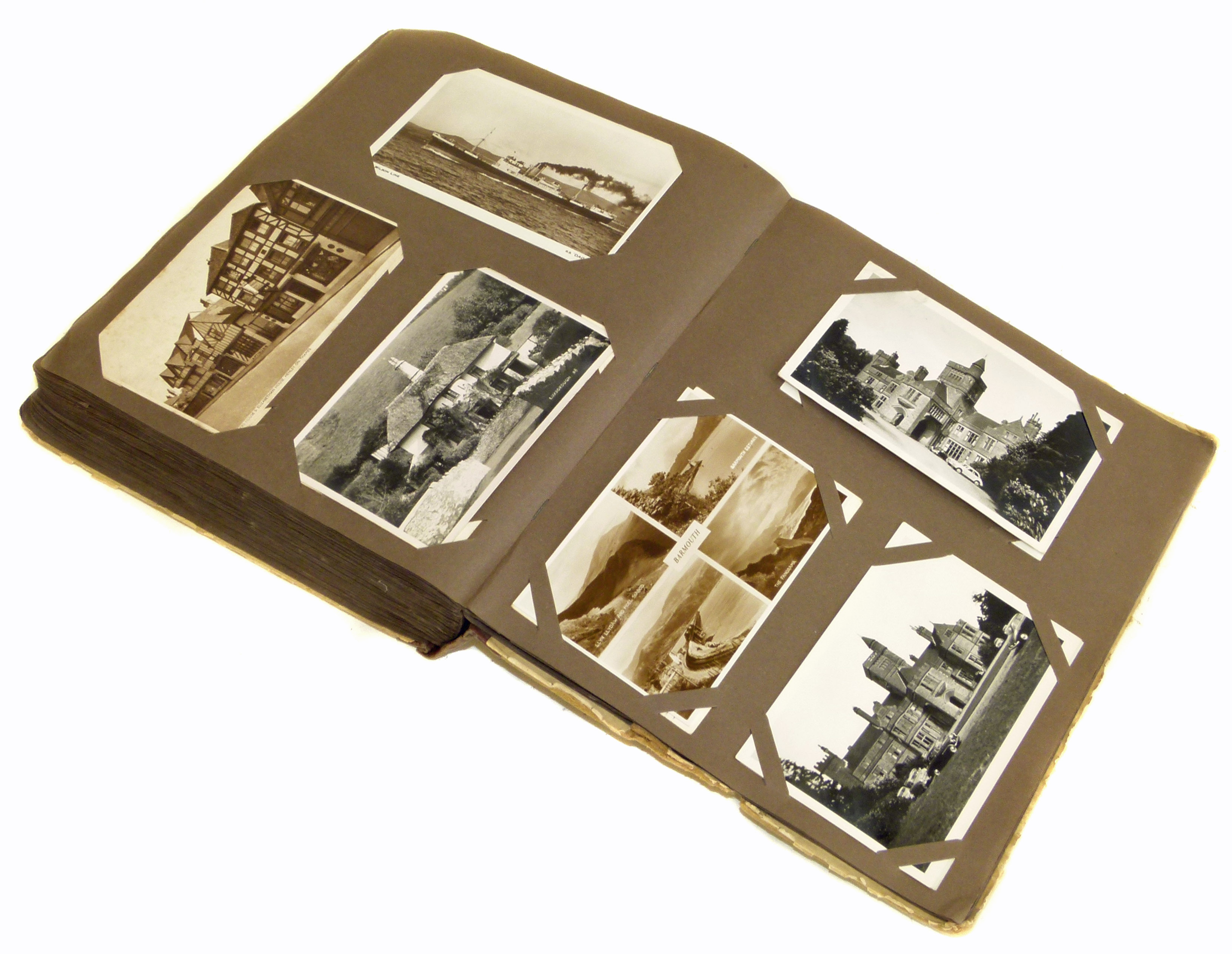 Old postcard album covering period 1910's Modern (approx 300 cards) We are unable to do condition