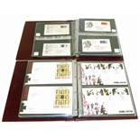 Two albums of mainly GB First Day covers, period 1965-2008, plus a few mint decimal sheets and