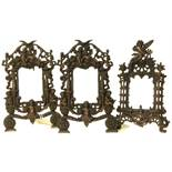Three Victorian case iron picture frames. We are unable to do condition reports on our Interiors