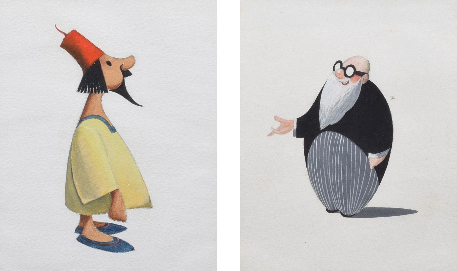 Francis Coudrill (1914-1989), Figure studies, unsigned, gouache, 16 x 12.5cm, 6.25 x 5in (4). We are