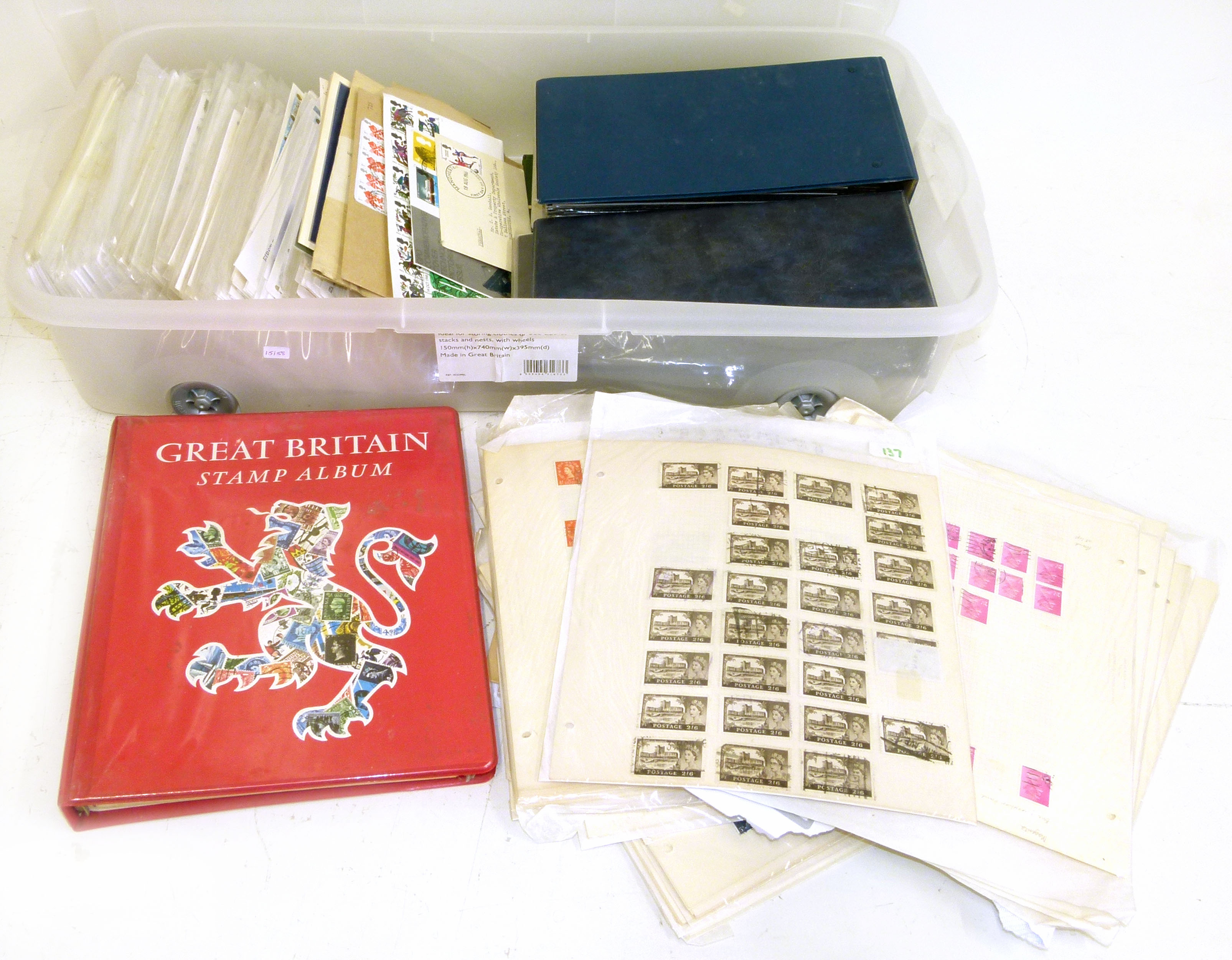Lot 38 - Large accumulation of GB stamps and covers including good mint in album from QV onwards We are