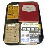 "Everest stamp album, a quantity of F.D.C.S, ""Scouting For Boys"", ""How To Run Wolf Cubs"" books, """