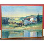 Max Hayslette oileograph of Tuscan landscape We are unable to do condition reports on our
