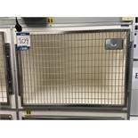 Geeling Ltd bank of 4 feline recovery cage kennels, 800mm x 580mm x 760mm