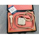 Vingmed Sound ultrasound probe, CLA 5MHz, Part No. KN100008, Serial No. 30517 with case