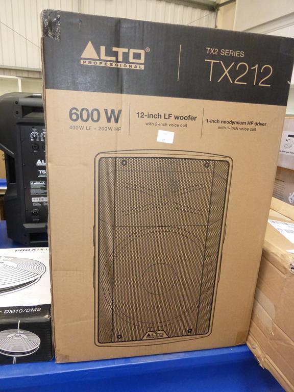 Lot 41 - * An Alto Professional TX212 600W Peak/300W Continuous Power (RRP £159)