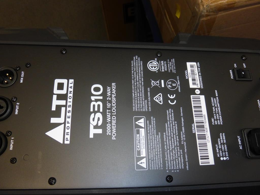Lot 30 - * Alto Professional TS310 10'' 2000W Active Full-Range Speaker, RRP £216