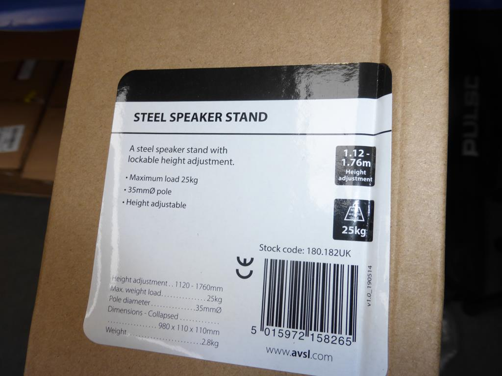 Lot 40 - * 4 X Speaker Stands (RRP £17.99 each) (total RRP £71.96)