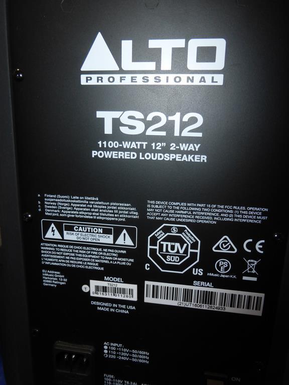 Lot 35 - * An Alto TS212 1100W 12'' 2 way powered Loudspeaker (RRP £260)
